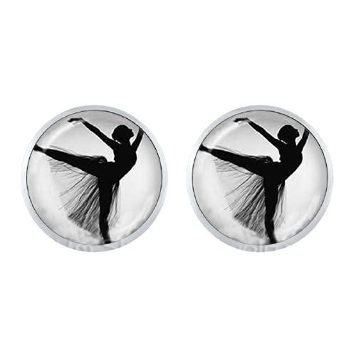Ballerina Silhouette, 12 mm, orecchini a forma di ballerina, ballerina, arte fotografica, ballerina, gioielli da donna