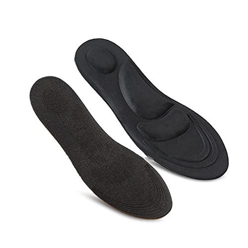 NXYJD XDYDHWSH Plantillas de cojín para Correr de Desodorante Transpirable elástico de Esponja 4D para pies, Plantillas para Hombres y Mujeres (Color : Black, Size : 35-40)