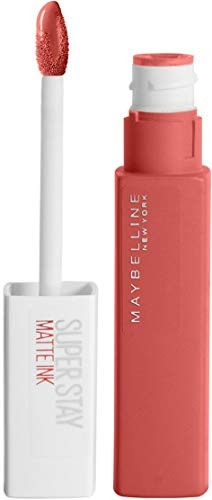 Maybelline New York Lippenstift, Super Stay Matte Ink City Edition, Flüssig, matt und langanhaltend, Nr. 130 Self-Starter, 5ml