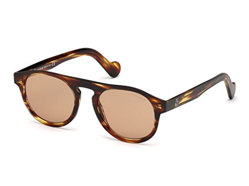Moncler ML0073 50E 51 Gafas de sol, Marrón (Marrone Scuro), Unisex Adulto