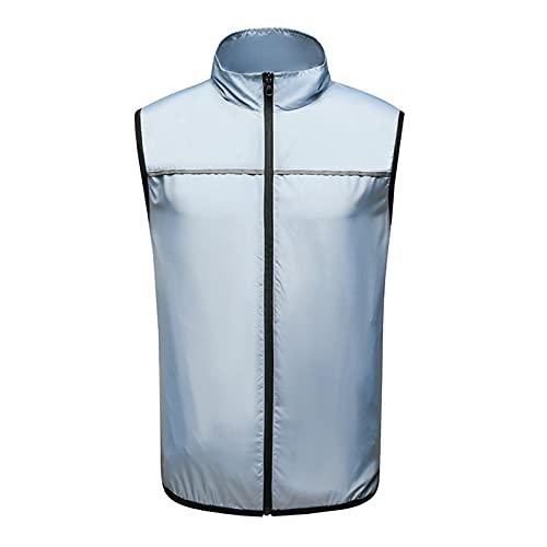 HWZZ Ropa De Aire Acondicionado Ventilador De Refrigeración Portátil Chaleco De Uniforme Verano Clima Cálido Pesca Trabajo A Alta Temperatura Unisex,Azul,XL