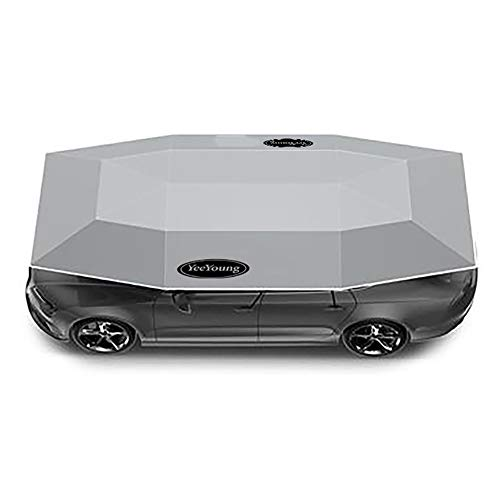 HYwot Car Tent, Popup Tent Cover, Portable Automatic Car Umbrella Tent, Big Surface Fully Cover The Main Body of Most Cars/181.1 * 90.6in,Gray