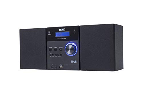 ROXX Stereoanlage mit CD, DAB+, UKW Radio, Bluetooth, AUX In und USB MC401 Black