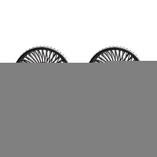 Ventilador Portátil 12 / 24V Mini ventilateur de voiture portátiles 360 degrés refroidissement réglable tout-rond par Aire Automatique USB doble tête ventilateurs silencieux petit ventilateur