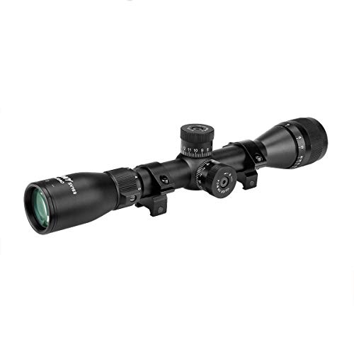 SVBONY SV169 3-9x32AO Rifle Scope, Mil Dot Reticle,Hunting Scope, with 20mm Free Mount ,Spring Loaded Instant Zero Resets Turrets