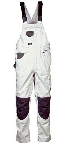 COFRA Painter Kollektion, Arbeitshose, Latzhose, Arbeitsjacke und Bermuda, Malerhose weiß (50, Latzhose weiß-schwarz)