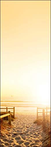 wandmotiv24 Türtapete Sonnenuntergang Ozean Natur 70 x 200cm (B x H) - Dekorfolie selbstklebend Sticker für Türen, Tür-Bilder, Aufkleber, Deko Wohnung modern M0262
