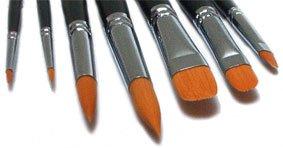 7 Toray Pinselset Künstlerpinsel Spitzpinsel spitz Katzenzungenpinsel Pinsel Set für Acrylfarben und Aquarellfarben