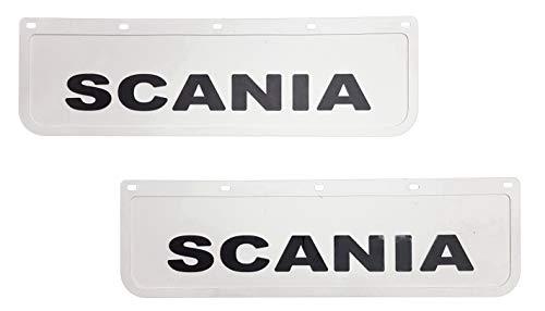 2 pezzi. Parafanghi in gomma resistente, colore bianco con nero, per camion, rimorchio, 60 x 18 cm