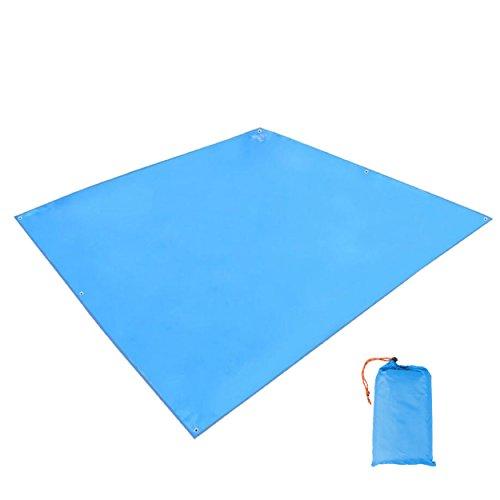 TRIWONDER Toldo de Tiendas de Campaña Impermeable Lona de Carpa Ligera para Acampar Picnic Playa al Aire Libre (Azul)