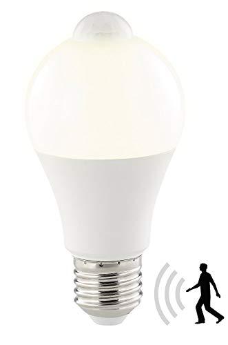 Luminea LED mit Bewegungssensor: LED-Lampe, PIR-Sensor, 12 W, E27, warmweiß, 3000 K, 1.055 Lumen (LED Lampe Bewegungsmelder)