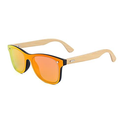 Gafas de sol de madera de bambú para hombre y mujer, polarizadas, unisex, madera auténtica, vintage, UV400, 317M-5