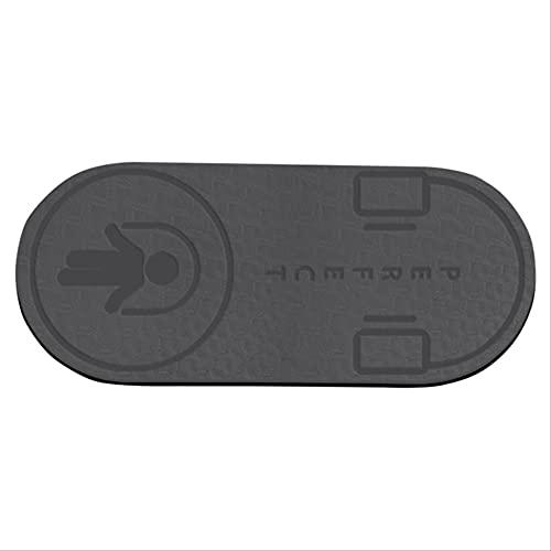 HHBB Tpe Material Yoga Mat Antideslizante, Piso Deportivo, Silencioso Skipping Mat 8mm Grueso Gris 140x60x0.6cm
