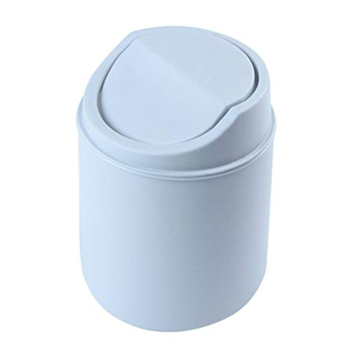 XINLANYU Mini Desktop Trash Can Mini Creative Covered Kitchen Living Room Trash Can Cover Type Desktop Trash Can