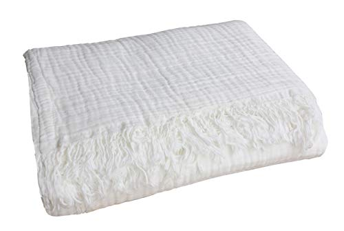 100% Organic Muslin Cotton Throw Blanket for Adult Kids...