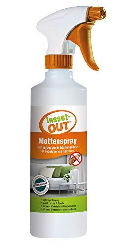 Insect-OUT Mottenspray 500 ml - Sofort- und Langzeitwirkung bis zu 6 Monaten, alle Mottenarten, Schützt Textilien und Lebensmittel, Wirkstoffe des Neembaums & der Chrysantheme