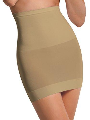 SENSI' Sottogonna Modellante Donna Vita Alta Senza Cuciture Microfibra Traspirante Seamless Made in Italy