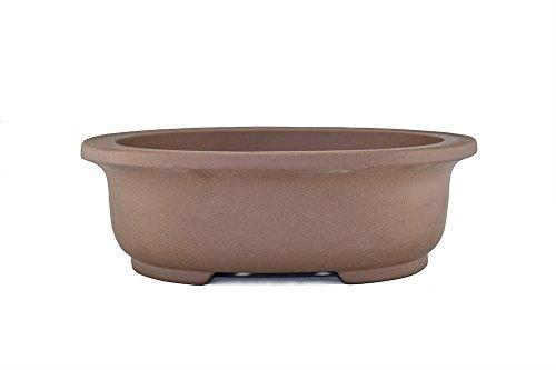 Extra Large Unglazed 20' Oval Shallow Yixing Zisha Ceramic Porous Bonsai Pot (PB16-6)