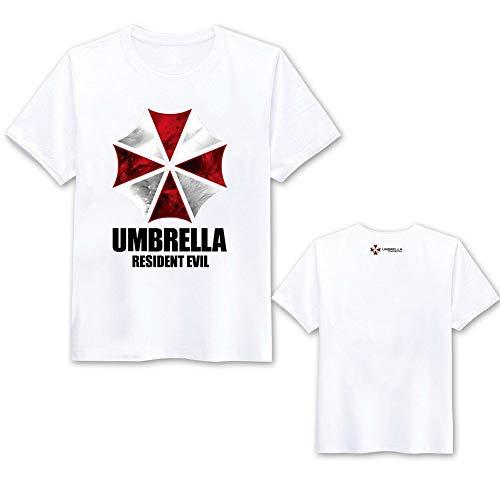 Resident Evil T-Shirt, Umbrella Corporation, Leon · Scott · Kennedy Organisation Kleidung Sommermann Kurzarm-T-Shirt Kleidung (Color : White, Size : Medium)