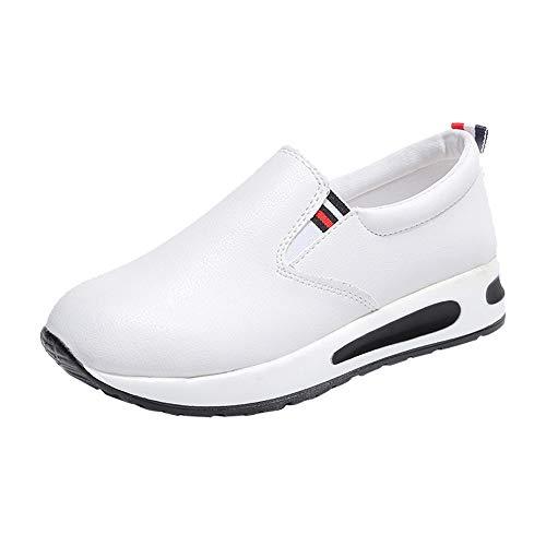 Alaso Femmes Mode Chaussures de Sports Course Fitness Gym athlétique Outdoor Casual Baskets en Cuir Pas Cher Semelle épais Chaussures