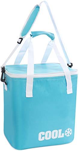 com-four® Kühltasche - Klassische Faltbare Thermo-Kühlbox, Isoliertasche für Picknick, Camping, Outdoor [Farbe variiert] (01 Stück - Blau/Variiert)