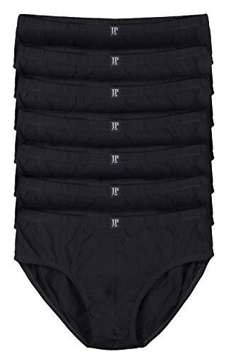 JP 1880 Herren große Größen bis 16 | Pants 7er Pack| Unterhosen, Schlüpfer, Slips, Hipster, Boxer-Shorts | Elastikbund | schwarz 12 711244 10-12