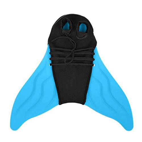 Towinle Tauchflossen Kinder Tauchen Flossen Mädchen Flossen Meerjungfrau Schwimmflossen Schwimmen Flipper (Blau)