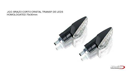 PUIG - 2585W : Intermitentes universales moto ZAFIRO brazo corto LEDS HOMOLOGADOS