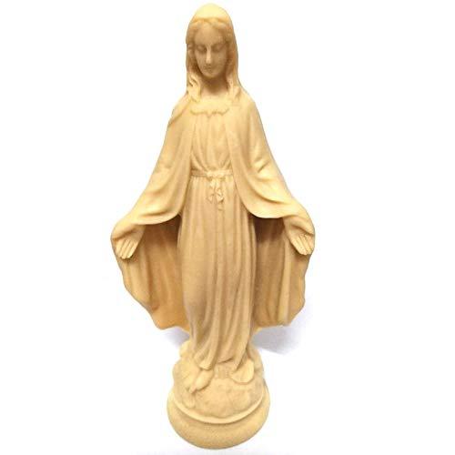 Estatua para decoración - Estatua de la Virgen Católica María/Iconos católicos/Mini Cute Angel Escultura Figura Decorativa Diosa Adorno/Jesús Estatua Decoración del Hogar Manualidades
