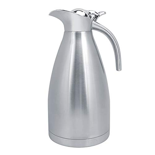 Jarra térmica al aire libre, 2L de acero inoxidable para el hogar al aire libre Botella de café con aislamiento al vacío Jarra térmica