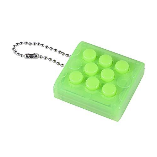 Eleganter Schlüsselanhänger mit elektronischer Blase, zum Stressabbau grün