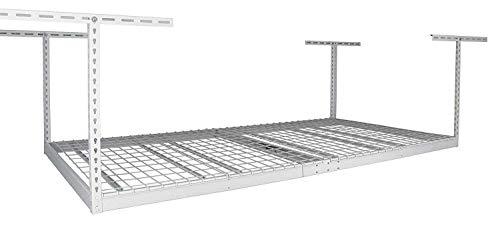 MonsterRax 4x8 Overhead Garage Storage Rack White 24-45