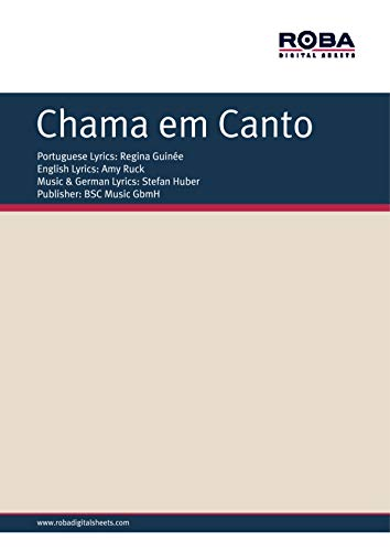 Chama em canto: piano sheet music