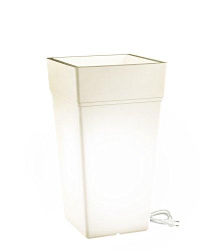 Teraplast Stalk 65 cm, 100% Plastique, Blanc, 65 cm