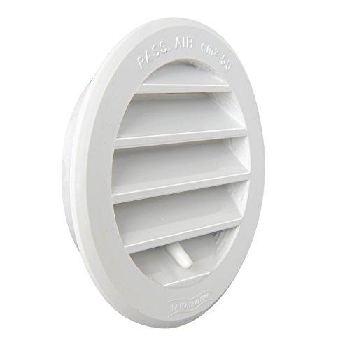 La ventilación t8drb Rejilla de ventilación de plástico redondo empotrable, blanco, diámetro 96mm