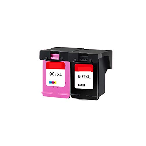 La impresora puede rellenar el cartucho de tinta negra, para el cartucho de tinta HP 901, para el cartucho de tinta HP j4660 4500 4580 cartucho de tinta negro j4640 todo en uno 901XL j4680 officejet H