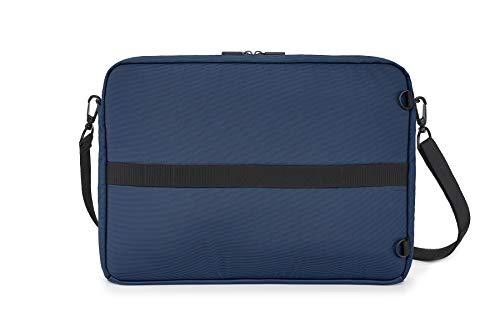 Moleskine - Metro Horizontale Gerätetasche, PC-Tasche für Laptop, Notebook, iPad und Tablet bis 15'', wasserdichte Kuriertasche, Größe 40 x 29 x 6 cm, Saphirblau