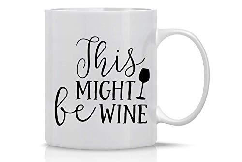 N\A Regalo para Halloween – Navidad esto podría ser una copa de vino – Divertida copa de vino – Taza de café