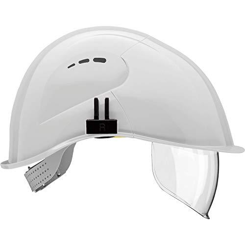 Voss - Casco con visera de protección (conformes con normas EN 397 y EN 166, polietileno), color blanco ✅