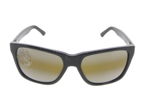 Vuarnet VL1301 017 (Shiny Black - Shiny Blue with Brown Gradient with Silver mirror effect lenses)