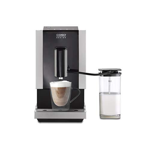 CASO Café Crema Touch, Design Kaffeevollautomat, inkl. Schlauch und Milchtank, Kegelmahlwerk stufenlos einstellbar, sofort startbereit, für alle Kaffeespezialitäten einfach per Touch