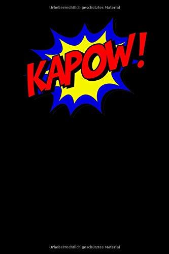 KAPOW!: Superhelden Comic Notizbuch für Notizen, Termine, Skizzen, Zeichnungen oder Tagebuch   Geschenk zu Geburtstag oder Weihnachten [100 Seiten   liniertes Papier   A5 Format   Soft Cover]