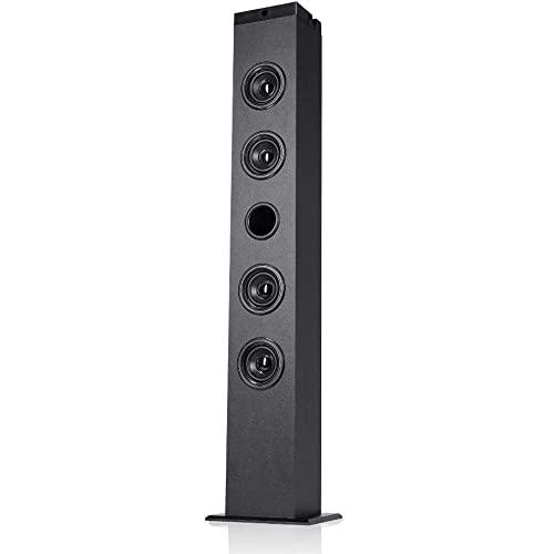 NK Torre de Sonido Vertical - Equipo de música Bluetooth 5.0, 40W RMS, TWS (2 Torres a la Vez), Mando a Distancia, Entrada óptica, RCA, Coaxial, Auxiliar, USB, FM (Compatible: iOS & Android)