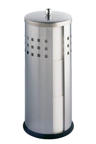 WENKO 16636100 Toilettenpapier-Ersatzrollenhalter Ancona matt, Edelstahl rostfrei, 13 x 34 x 13 cm, Matt