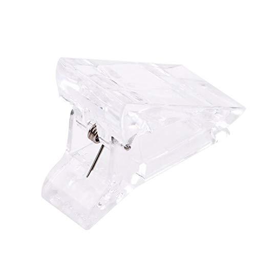 HNCE Transparent Polygel Quick Building Nagelspitzen Clips Fingernagelverlängerung UV LED Kunststoff Builder Klemmen Nagelklemmclips Maniküre Nail Art Tool Kit Für Poly Gel