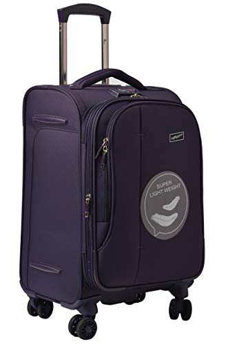 F Gear Aspire Polyester 54 cms Purple Softsided Cabin Luggage (2752)