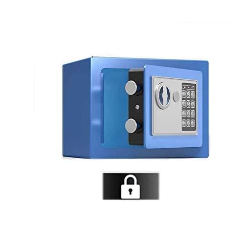 Cajas fuertes medianas, caja de depósito Caja de seguridad para el hogar con código y llaves de anulación de emergencia Alarma incorporada, montada en la pared o en el piso para joyería Documento de