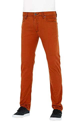 Reell Jeans Pants Men Skin Slim Fit, Burnt Orange 34/34 Artikel-Nr.1100-1001