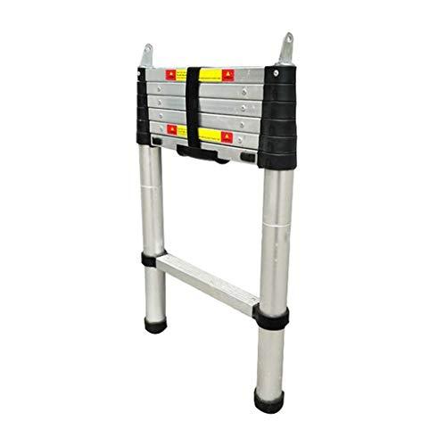 ZCF Escalera telescópica Extensión de Aluminio Escalera Telescópica Deslizante Portátil, Escalera Especial para Carpa con Elevador de Una Llave con Gancho de Techo (Size : 2. 3m/7. 5ft)