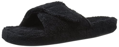 Acorn Women's Spa Slide Slipper, Black, 8-9